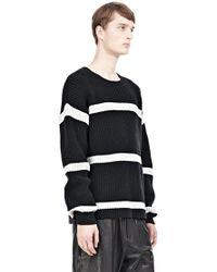 Alexander Wang Cotton Nylon Stripe Crewneck Pullover - Lyst