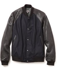 Vince Varsity Jacket - Blue