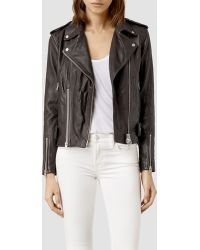 AllSaints Addison Leather Biker Jacket - Lyst