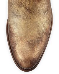 Frye Deborah Studded Short Western Boot - Metallic