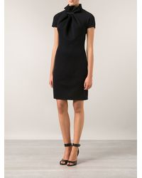Lanvin Ruffled Neck Dress - Lyst