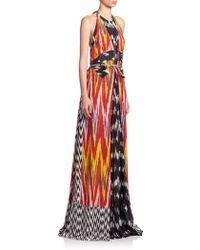 Altuzarra   Peacock Ikat Silk Gown   Lyst