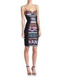Jean Paul Gaultier Mixed-Media Bustier Dress multicolor - Lyst