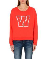 Wildfox Simply Sport Jersey Sweatshirt - Lyst