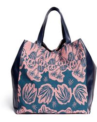 Paul Smith Botanical Art Garden Jacquard Leather Tote multicolor - Lyst