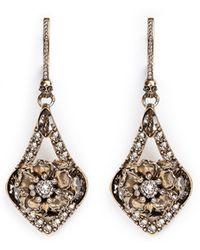 Alexander McQueen | Flower Crystal Teardrop Earrings | Lyst