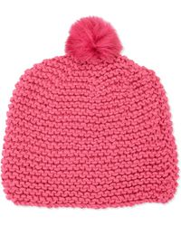 Hat Attack Knit Scully Pom-Pom Hat - Lyst