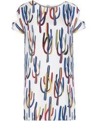 Pixie Market Cactus Print Shift Dress - Lyst