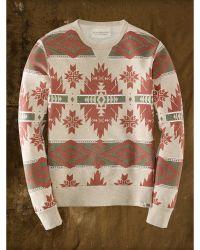 Denim & Supply Ralph Lauren Geometric Cotton Sweatshirt - Lyst