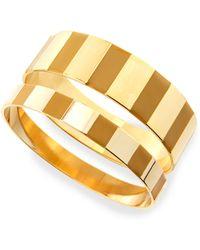 Tuleste - Enamel Step Bangles In Yellow/golden - Lyst