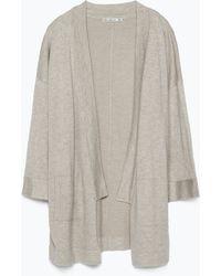 Zara Jacket gray - Lyst