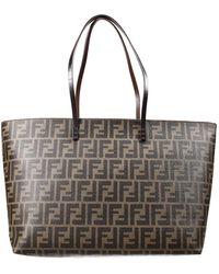 Fendi Handbag Bag Rool Bag Zucca Pu Inside Contrast - Lyst