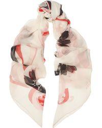 Alexander McQueen Kansia Kimono Printed Silk-Chiffon Scarf - Lyst