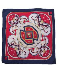 Hermes Preowned Washingtons Carriage Silk Scarf - Lyst