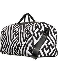 KTZ Printed Cotton Canvas Duffle Bag - Black