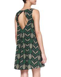 Alice + Olivia Lana Geometric-Print Voile Dress - Lyst