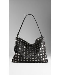 Burberry Medium Metal Eyelet Hobo Bag - Lyst