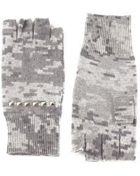 Autumn Cashmere Gray Digi-camo Gloves - Lyst