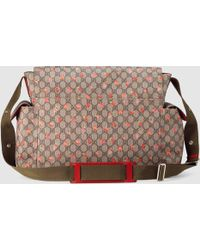 Gucci Gg Strawberry Diaper Bag - Pink
