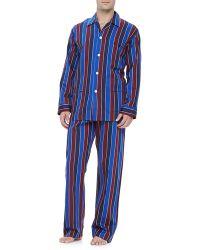 Derek Rose Multi-stripe Mens Pajamas - Lyst
