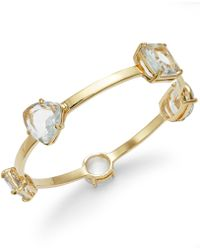 Kate Spade Gold-Tone Stone Station Bangle Bracelet - Lyst