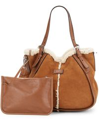 Tod's New G Sacca Piccola Shearling Satchel - Lyst