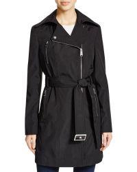 CALVIN KLEIN 205W39NYC - Asymmetric Zip Raincoat - Lyst