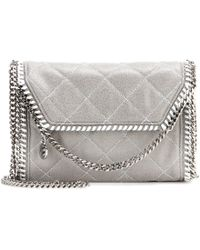 Stella McCartney Falabella Quilted Faux-Leather Shoulder Bag - Lyst