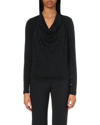 MICHAEL Michael Kors Studded Cowl-Neck Top - For Women - Lyst