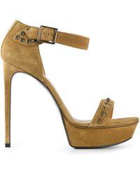 Saint Laurent Beige 'Jane' Sandals - Lyst