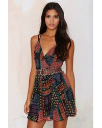 Nasty Gal | Estelle Plunging Dress | Lyst