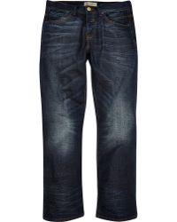 River Island Dark Wash Clint Bootcut Jeans - Lyst