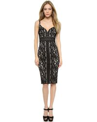 Lover Poppy Sweeheart Dress - Black - Lyst