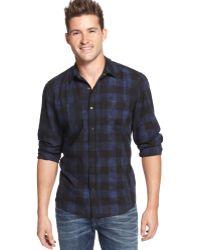 Guess Plaid Shirt - Lyst