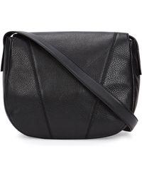 Vince - Medium Black Leather Shoulder Bag - Lyst