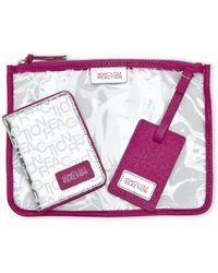 Kenneth Cole Reaction | Silver & Fuchsia Luggage Passport Set | Lyst