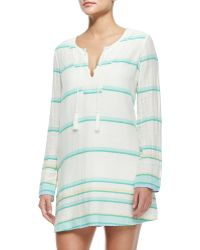 Soft Joie Dacy Long-sleeve Coverup Tunic Dress - White