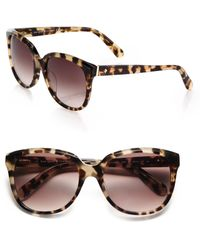 Kate Spade Bayleigh 55Mm Modified Cat'S-Eye Sunglasses - Lyst