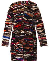 Diane Von Furstenberg Black Finale Coat - Lyst