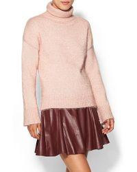 Kate Spade Pink Shimmer Turtleneck - Lyst