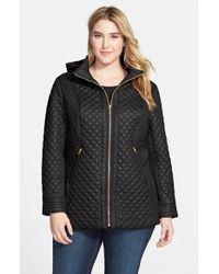 Via Spiga Front Zip Quilted Jacket With Detachable Hood - Lyst