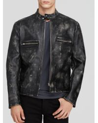 McQ by Alexander McQueen Leather Racer Jacket - Lyst
