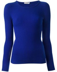 Yves Saint Laurent Vintage Ribbed Knit Sweater - Lyst