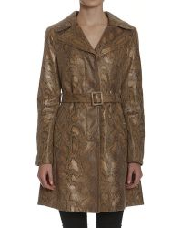 Members Only - Metallic Faux Python Trench - Lyst