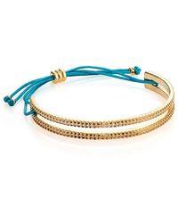 Marc By Marc Jacobs Textured Slot Friendship Bracelet - Lyst