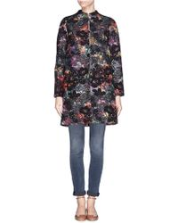 Alice + Olivia 'Irvine' Floral Embroidery Coat - Lyst