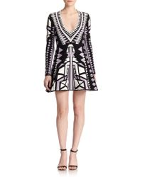 Parker Napa Printed Long Sleeve Dress - Lyst