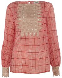 Temperley London Helm Check Top - Lyst
