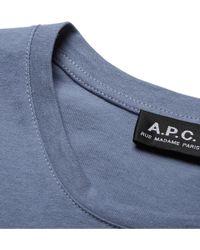 A.P.C. Cotton T-Shirt - Lyst
