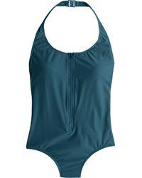 J.Crew Zip-Front One-Piece Swimsuit blue - Lyst